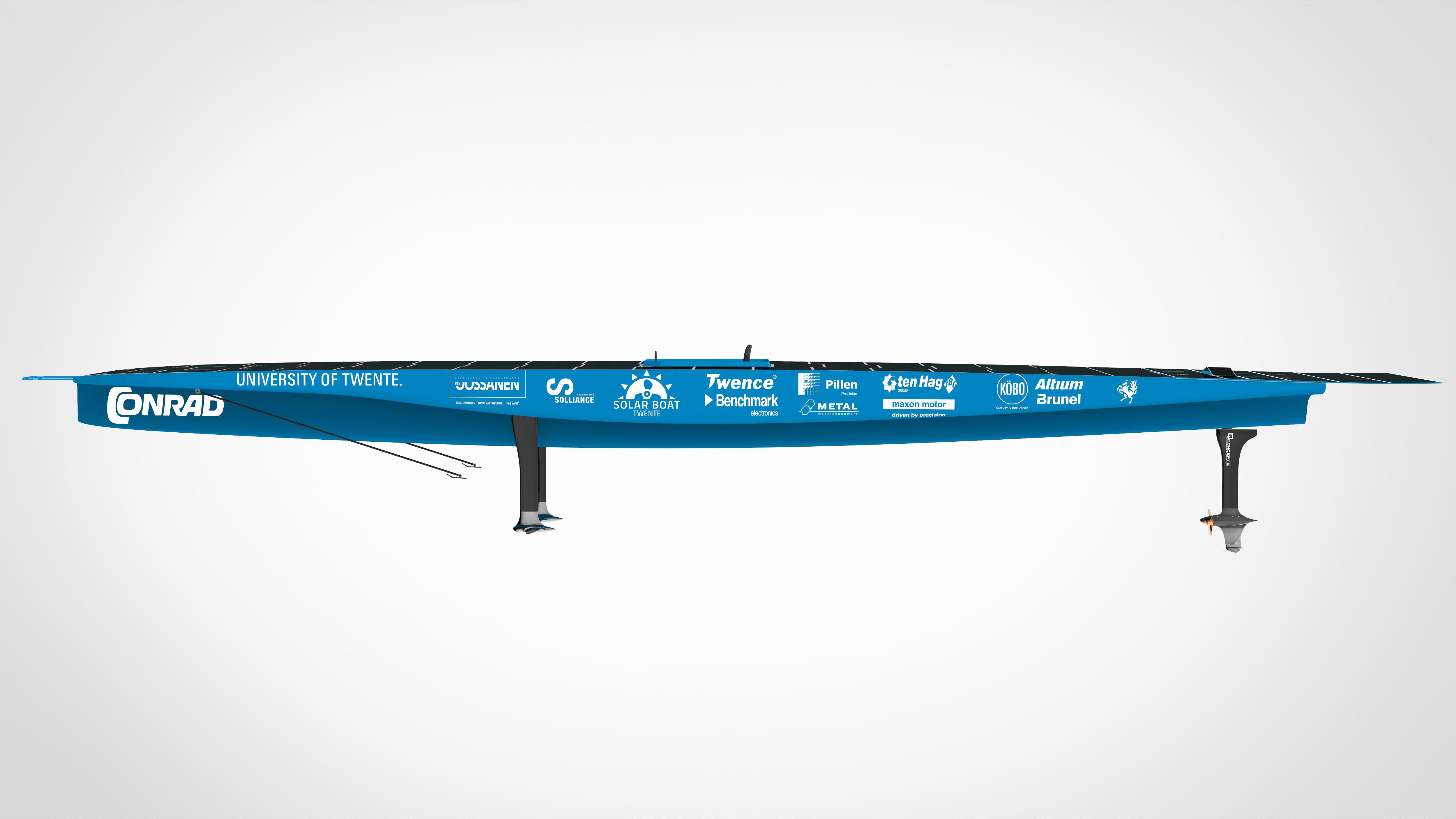 Render Solar Boat Twente